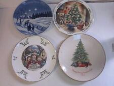 4 Vintage Christmas Collector Plates Royal Doulton Gorham & Schumann