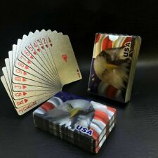 2×New Black Poker Playing Cards PVC Plastic High Quality Durable Waterproof Deck