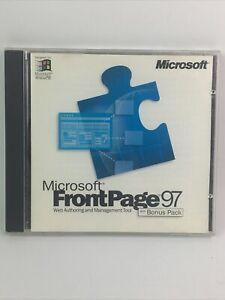 Microsoft FrontPage 97 cd