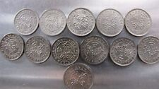 Hong Kong group of 5 cents 1890 to 1939 (12 pieces)