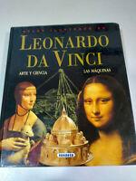 Leonardo Da Vinci Atlas ilustrado Arte Ciencia Maquinas Libro Tapa Dura 232 pags
