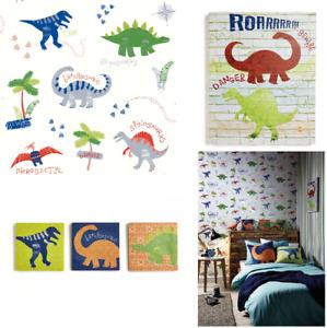 Arthouse Dino Doodles Kids Bedroom Dinosaur Wallpaper & Matching Accessories