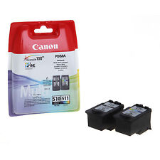 Genuine Canon PG510 / CL511 Black & Colour Combo Ink Pack - MX320/330 (2970B010)