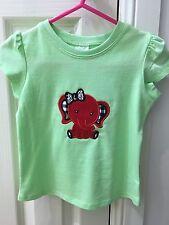 Girls Shirt Elephant Embroidered Size 1 Birthday Gift