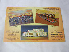 JIM AND RUDY'S RIVERSIDE CLUB DANCE ORCHESTRA IRON MOUNTAIN MICH POSTCARD  T*