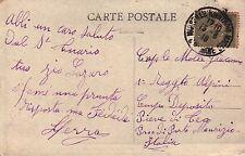 CARTOLINA DA MARSIGLIA PER MILITARE 1° RGT ALPINI D PIEVE DI TECO IMPERIA C5-363