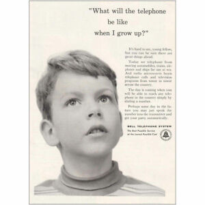 1953 Bell Telephone: When I Grow Up Vintage Print Ad
