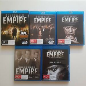 Boardwalk Empire : Complete Series Season 1 2 3 4 & 5 (Blu-ray, 22-Disc Set) RB