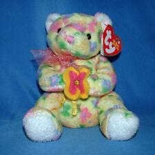 Ty Beanie Baby Bloom - MWMT, Bear w Flowers