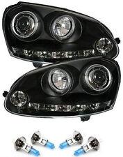 BLACK ANGEL EYE Proiettore Fari LED DRL R8 nastri con lampadine H1-VW GOLF MK5