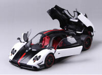 Pagani Huayra 1/18 Sport Vehicle Car Diecast Model Toy White&Black Display