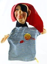 """Steiff 7017/27 Pirate Hand Puppet 11"""" Tall W/ Button & Tag ca 1970s?"""