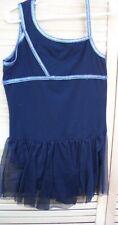 DANSKIN NOW black cotton skirted leotard~child's L~10-12~gymnastics~dance~