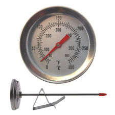 DEEP FRYING THERMOMETER 150MM STAINLESS STEEL PROBE WITH PAN CLIP - IN-079