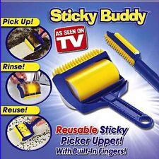 Sticky Buddy Reusable Cleaner Lint Roller Pet Hair Remover Brush Dog Cat Groom
