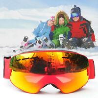 Snow Ski Goggles Kid Anti-fog Lens Snowboard Snowmobile Motorcycle Outdoor RP