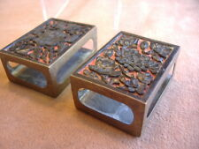 ANTIQUE RED AND BLACK CINNEBAR MATCH BOX COVERS