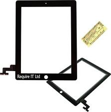 BLACK GLASS DIGITISER TOUCH SCREEN REPLACEMENT FOR APPLE iPAD 2