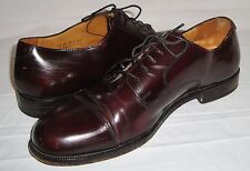 Cole Haan Brown Leather Cap Toe Oxfords 9.5 Lace Up Shoes Style Number C08331
