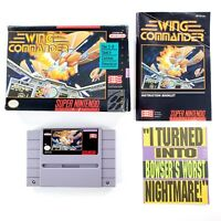 Wing Commander (Super Nintendo, 1992) w/ Box & Manual Tested & Works