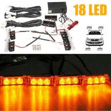 4x 3LED Auto KFZ Frontblitzer Blitzlicht Warnleuchte LKW Strobe Licht 12V 24V