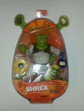 Shrek 2 Skrek with Slammin arm and swamp gas feature action figure MOSC