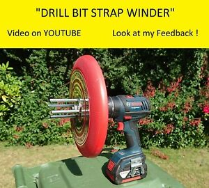 Drill Bit Strap Winder - The easiest and fastest way to wind up truck straps