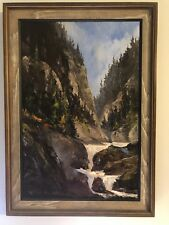 "Robert E Wood 1919-1980 Oil Painting Original ""Knife Study of Mt. Gorge""26""x19"""