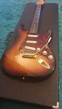 More details for japanese crafted fender stratocaster gold hardware sunburst electric guitar
