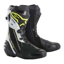 Alpinestars Supertech R Boots Black/White/Flo Yellow