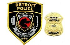 MICHIGAN POLICE PATCH DETROIT NARCOTICS SET OF 2