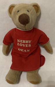 Vtg Avon Kerby Loves Plush Brown Stuffed Animal Bear Red Gown 1983-84 Rare HTF