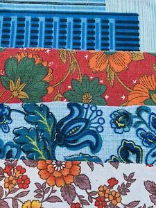 Vintage  Fabrics 1950s Scrap / Bundle Patchwork / Craft/ Quilting / #2