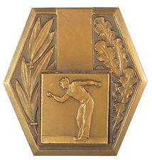 France sports boules petanque BOWLING bronze 50mm  x 52mm