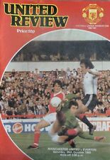 Manchester United v Everton 25 October 1980  Football Programme  League Match