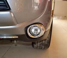 Chrome Front Fog Light Bumper Cover Garnish for Mitsubishi Outlander ZJ 2012-15