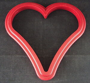 Silicone Trivet, Heart Shape, Red, Silicone Solutions