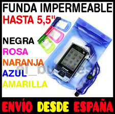FUNDA BOLSA IMPERMEABLE SUMERGIBLE PROTECTORA MOVIL - BILLETES - MP3 - CAMARA