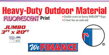 WE FINANCE Banner Sign 20 FEET car lot buy here pay here financing bad credit