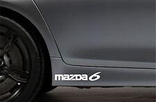 2x Skirt Side Stickers fits Mazda 6 Sticker Bodywork Car Decal VK44
