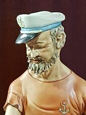 Capodimonte porcelain, Sailor, Fisherman, Pearl Creation Master Volta