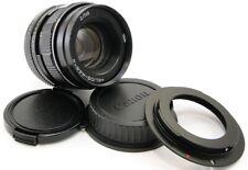 HELIOS 44m-4 Russian USSR 58mm f/2 Lens M42 + Adapt. Canon EOS EF Mount 44-2