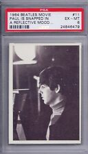 1964 Topps Beatles Movie # 11 Paul is Snapped In a Reflective Mood EX MT PSA 6