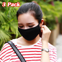3PCS Reusable Face Mask Air Purifying Cotton Mouth Cover with Valve PM2.5 filter