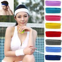 Soft Unisex Sport Sweat Sweatband Headband Yoga Gym Stretch Head Band Hair