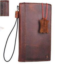 Genuine vintage leather Case For Huawei P10 wallet Cards Slots Slim holder brown