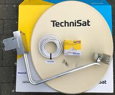 TechniSat Satanlage 650plus beige mit  Quatro-Switch-LNB (4Teilnehmer)Neu 10m
