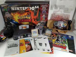 ¤ Pokemon Stadium Battle Set ¤ Nintendo 64 Console N64 System Complete Rare CIB