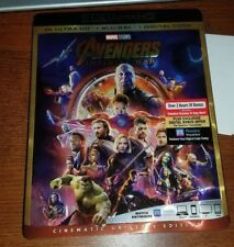 Avengers: Infinity War 4K Ultra HD Blu-Ray slipcover NO DIGITAL!!