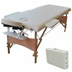 """Carry Case White New 84""""L Portable Massage Table Facial SPA Bed Tattoo w/Free"""